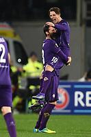 Esultanza Gol Federico Bernardeschi Fiorentina Goal celebration <br /> Firenze 18-02-2016 Stadio Artemio Franchi, Football, Europa League round of 32 Sedicesimi di finale Fiorentina - Tottenham .  Foto Andrea Staccioli / Insidefoto