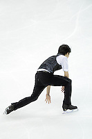 --JAPAN OUT--Takahiko Kozuka of Japan falls as he performs during the Men short program of the ISU World Figure Skating Championships 2015 in Shanghai, China, 27 March 2015.