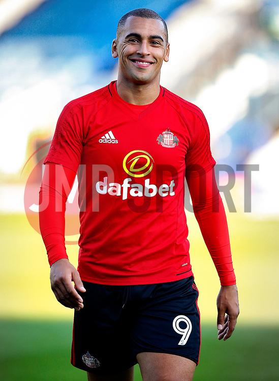 James Vaughan of Sunderland smiles on his return to Gigg Lane - Mandatory by-line: Matt McNulty/JMP - 10/08/2017 - FOOTBALL - Gigg Lane - Bury, England - Bury v Sunderland - Carabao Cup - First Round