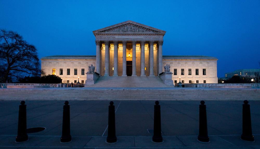 The US Supreme Court building, Washington DC.