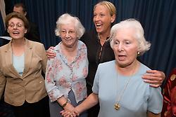 Group of elderly woman singing,