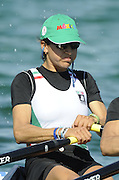 Munich, GERMANY, MEX LW 2X. Bow Gabriela HUERTA TRILLO and Lila PEREZ RUL At the start, during the FISA World Cup at the Munich Olympic Rowing Course, Thur's.  08.05.2008  [Mandatory Credit Peter Spurrier/ Intersport Images] Rowing Course, Olympic Regatta Rowing Course, Munich, GERMANY