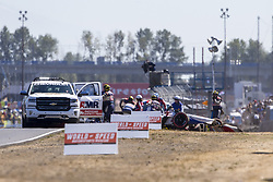 September 2, 2018 - Portland, Oregon, United Stated - MARCO ANDRETTI (98) of the United States gets airborne and flips during the opening lap of the Portland International Raceway at Portland International Raceway in Portland, Oregon. (Credit Image: © Justin R. Noe Asp Inc/ASP via ZUMA Wire)