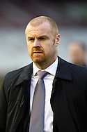 Burnley Manager Sean Dyche looks on prior to kick off. Skybet football league Championship match, Burnley v Ipswich Town at Turf Moor in Burnley, Lancs on Saturday 2nd January 2016.<br /> pic by Chris Stading, Andrew Orchard sports photography.