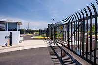 Exterior image of the security fence and gard station at DC-6 in Manassas VA
