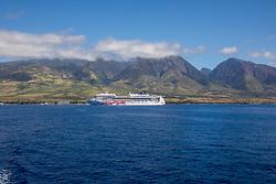 Cruise Ship Outside Of Lahaina Harbor