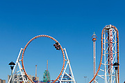 Coney Island's Thunderbolt roller coaster, a steel roller coaster with a 90-degree drop and an inversion loop.
