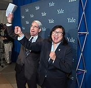 """Photography ©Mara Lavitt<br /> Beinecke Rare Book & Manuscript Library, Yale University, New Haven, CT<br /> February 1, 2018<br /> <br /> Victoria M. """"Vicky"""" Chun was introduced to the Yale community as the new Yale University Athletic Director."""
