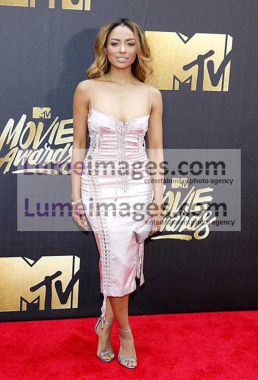 Kat Graham at the 2016 MTV Movie Awards held at the Warner Bros. Studios in Burbank, USA on April 9, 2016.
