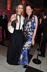 Left to right, LAURA BAILEY and ALICE TEMPERLEY at a private view of Ballgowns: British Glamour Since 1950 at the V&A museum, London on 15th May 2012.