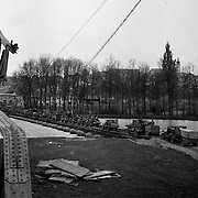 Isar River, Germany. April 1945. One of the last German rivers to cross
