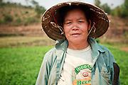 Mar. 12, 2009 -- BAN THO THAN, LAOS:    A peasant woman in her peanut field in Ban Tho Than, Laos, near Vang Vieng. Photo by Jack Kurtz