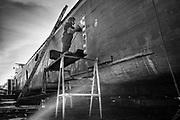Rupelmonde, Belgium, 9 oct 2018, Activities at Scheldewerf Rupelmonde Shipyard.