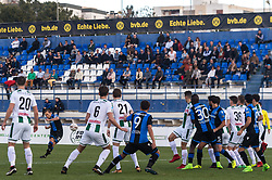 Ruud Vormer of Club Brugge hits the crossbar with a free kick during the friendly match between FC Groningen and Club Brugge at Estadio Municipal on January 10, 2018 in  Marbella, Spain