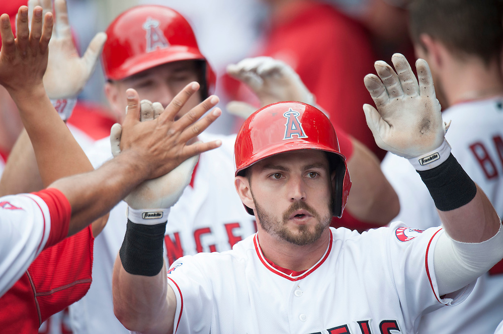 ///ADDITIONAL INFO:   <br /> <br /> angels.0530.kjs  ---  Photo by KEVIN SULLIVAN / Orange County Register  -- 5/29/16<br /> <br /> The Los Angeles Angels take on the Houston Astros Sunday at Angel Stadium.
