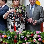 NLD/Middelburg/20100430 -  Koninginnedag 2010, Maxima en partner Willem - Alexander
