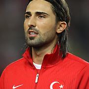 Turkey's Hasan Ali Kaldirim during their FIFA World Cup 2014 qualifying soccer match Turkey betwen Romania at Sukru Saracoglu stadium in Istanbul october 12, 2012. Photo by TURKPIX