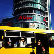 Sochi residents commute through downtown on a city bus Friday, Feb. 7, 2014. Photographed during the Winter Olympics in Sochi, Russia with an iPhone and Instragram. (Brian Cassella/Chicago Tribune) B583527420Z.1 <br /> ....OUTSIDE TRIBUNE CO.- NO MAGS,  NO SALES, NO INTERNET, NO TV, CHICAGO OUT, NO DIGITAL MANIPULATION...
