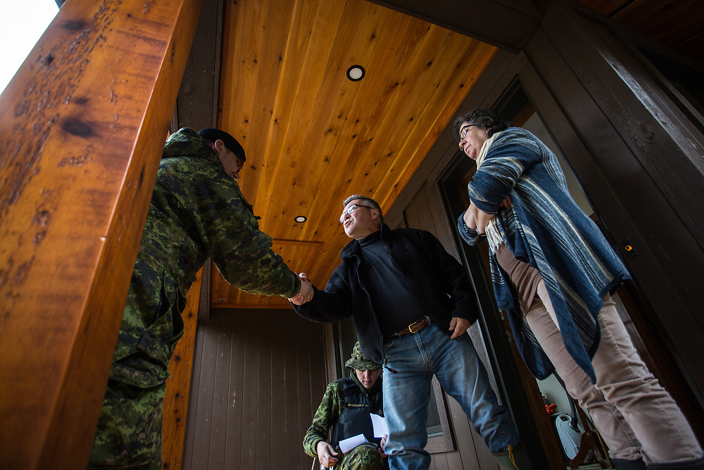One couple in Aylmer, Quebec, told Warrant Officer Frédérick Denis that they had limited damage to their property from the floods in the spring of 2017,