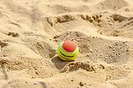 Spielball beim Bech-Tennis, Deutsche Meisterschaften Beach-Tennis, Saalouis, 23.08.2018, Foto: Claudio Gärtner