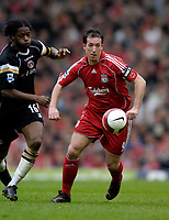 Photo: Jed Wee/Sportsbeat Images.<br /> Liverpool v Charlton Athletic. The Barclays Premiership. 13/05/2007.<br /> <br /> Liverpool's Robbie Fowler (R) takes on Charlton's Alex Song.