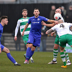 TELFORD COPYRIGHT MIKE SHERIDAN Aaron Williams of Telford  during the Vanarama Conference North fixture between AFC Telford United and Farsley Celtic at The Citadel on Saturday, January 25, 2020.<br /> <br /> Picture credit: Mike Sheridan/Ultrapress<br /> <br /> MS201920-042