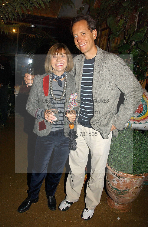 Actor RICHARD E GRANT and his wife at a party to celebrate the publication on 'A Year in My Kitchen' by Skye Gyngell held at The Petersham Nurseries, Petesham, Surrey on 19th October 2006.<br /><br />NON EXCLUSIVE - WORLD RIGHTS