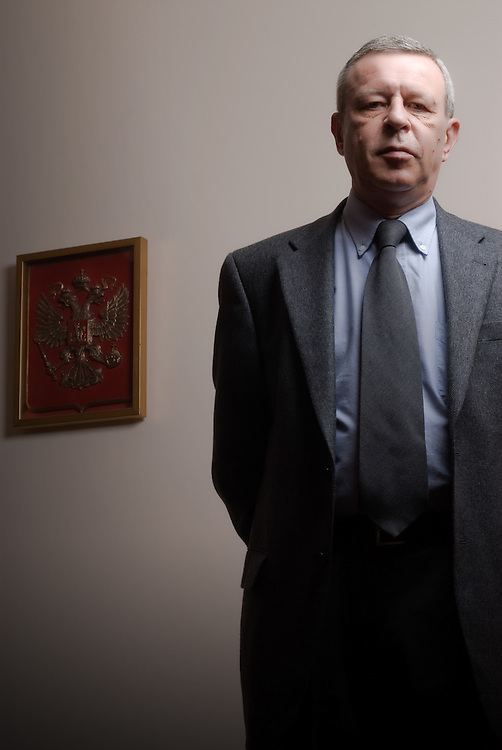 Counselor in the Russian Embassy Sergey  Filimonov for  Epsilon magazine - Greece