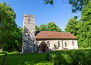 Village parish church of Saint Mary, Nettlestead, Suffolk, England, UK