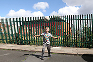 One for the future - as a young fan practices his skills in the shadow of the stadium before the Premier League match between Liverpool and Aston Villa at Anfield, Liverpool, England on 5 July 2020.