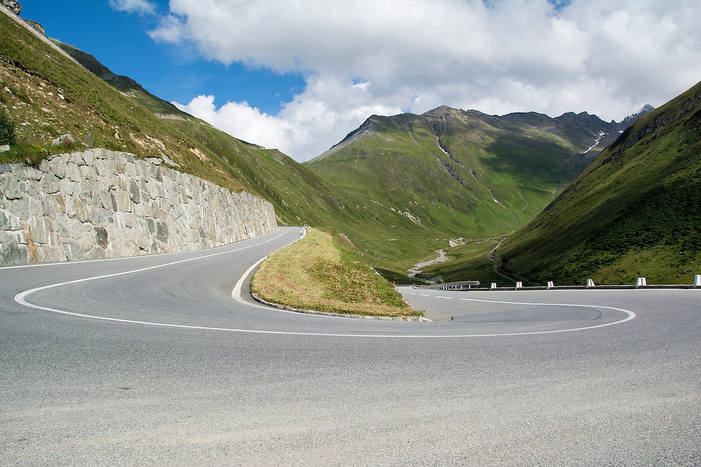 Typical Alpine road.