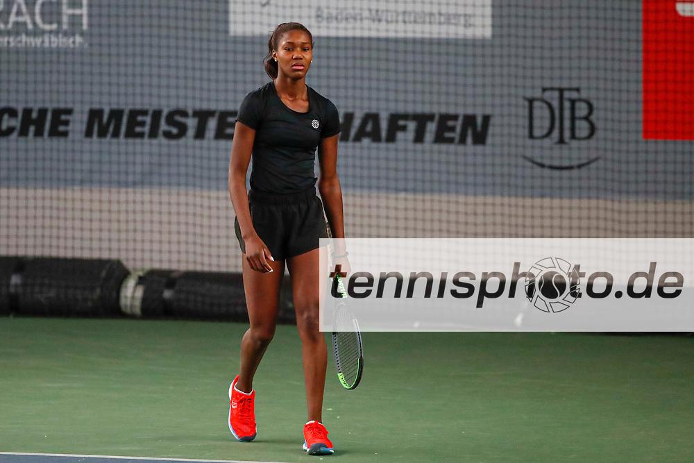 Alexandra Vecic (GER), Deutsche Meisterschaften der Damen und Herren 2020 - Deutscher Tennis Bund e.V. am 12.12.2020 in Biberach (Bezirksstützpunk Biberach (WTB)), Deutschland, Foto: Mathias Schulz