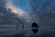 Cannon Beach, sunset, Oregon