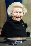 Prinses Beatrix geeft in het Koninklijk Paleis in Amsterdam een verjaardagsontvangst voor familie, vrienden en bekenden. Prinses Beatrix werd afgelopen woensdag tachtig jaar en vierde haar verjaardag in besloten kring.<br /> <br /> Princess Beatrix gives a birthday reception for family, friends and acquaintances at the Royal Palace in Amsterdam. Princess Beatrix was eighty years old last Wednesday and fourth birthday in private.<br /> <br /> Op de foto / On the photo:  Prinses Beatrix / Princess Beatrix