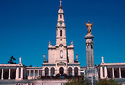 PORTUGAL, CENTRAL REGION Pilgrims at Basilica of Fatima built in 1953 on the site where 3 children saw the Virgin Mary