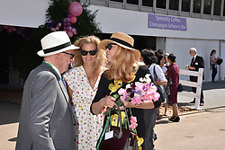 Rupert Murdoch, Suzanne Wyman and Jerry Hall at the RHS Chelsea Flower Show Press Day, Royal Hospital Chelsea, London England. 22 May 2017.<br /> Photo by Dominic O'Neill/SilverHub 0203 174 1069 sales@silverhubmedia.com