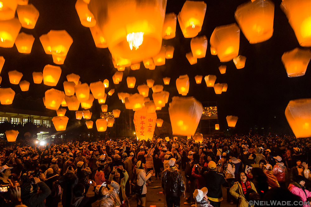 The Taiwan Pingxi Lantern Festival happens a few weeks after Lunar New Years.