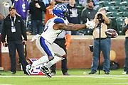 St. Louis Battlehawks wide receiver De'Mornay Pierson-El (15) mishandles a kick during a XFL professional football game, Saturday, February 9, 2020, at Globe Life Park, Arlington Texas. he  Battlehawks defeated the Renegades 15-9. (Wayne Gooden/Image of Sport)