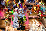 Christmas tree ornaments  at Christmas market, Winter Wonderland, in Hyde Park, London