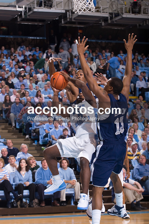 27 December 2007: North Carolina Tar Heels guard Ty Lawson (5) during a 106-70 win over the Nevada Wolf Pack at the Dean Smith Center in Chapel Hill, NC.