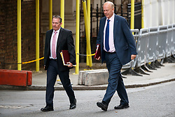 © Licensed to London News Pictures. 11/07/2017. London, UK. International Trade Secretary LIAM FOX and Transport Secretary CHRIS GRAYLING attend a cabinet meeting in Downing Street, London on Tuesday, 11 July 2017. Photo credit: Tolga Akmen/LNP