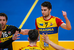 Frits van Gestel of Dynamo in action during the cup final between Amysoft Lycurgus vs. Draisma Dynamo on April 18, 2021 in sports hall Alfa College in Groningen