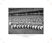 All Ireland Senior Football Championship Final, Kerry v Meath, 26091954AISFCF, Meath 1-13 Kerry 1-7, 26.09.1954, 09.26.1954, 26th September 1954,.Meath Team:.Front Row (from left) Patsy Ratty, Jim Reilly, Kevin Lenehan, M O'Brien, Matthem McDonnell, X Dermott, Paddy M, Patsy McGearty, Billie Rattigan, Larry O'Brien, John Clarke, Miceal O'Brien. Back Row (from left) PJ Brady, Edward Durnin, Richard M, Jim Farrell, Brian Smith, Kevin Mc Connell, Thomas Moriarty, X Flanagan, Frankie Byrne, Gerard Smith, X O'Brien. .