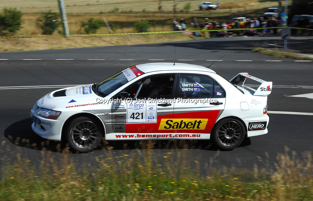 Barrie & Jan Smith.2004 Mitsubishi Lancer Evolution VIII.Day 2.Targa Wrest Point 2009.Southern Tasmania.1st of February 2009.(C) Joel Strickland Photographics.
