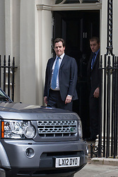 © licensed to London News Pictures. London, UK 05/07/2012. George Osborne leaving No 11 in Downing Street today. Photo credit: Tolga Akmen/LNP