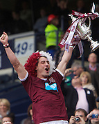 The William Hill Scottish FA Cup Final 2012 Hibernian Football Club v Heart Of Midlothian Football Club..19-05-12...Hearts Rudi Skacel celebrates lifting the Scottish Cup        during the William Hill Scottish FA Cup Final 2012 between (SPL) Scottish Premier League clubs Hibernian FC and Heart Of Midlothian FC. It's the first all Edinburgh Final since 1986 which Hearts won 3-1. Hearts bid to win the trophy since their last victory in 2006, and Hibs aim to win the Scottish Cup for the first time since 1902....At The Scottish National Stadium, Hampden Park, Glasgow...Picture Mark Davison/ ProLens PhotoAgency/ PLPA.Saturday 19th May 2012.