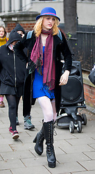 April 13, 2018 - London, London, UK - London, UK. Transgender activist Tara Wolf leaves Hendon Magistrates Court following the second day of her trial. Maria Maclachlan (not pictured) claims 26-year-old Tara Wolf punched and pushed her during a clash at Speakers' Corner in Hyde Park last September. (Credit Image: © Tom Nicholson/London News Pictures via ZUMA Wire)