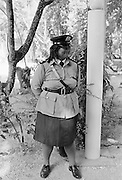 Policewoman on duty in Nauru, South Pacific