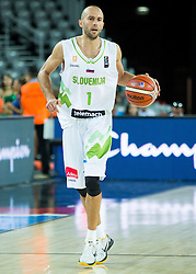 Nebojsa Joksimovic of Slovenia during basketball match between Slovenia vs Netherlands at Day 4 in Group C of FIBA Europe Eurobasket 2015, on September 8, 2015, in Arena Zagreb, Croatia. Photo by Vid Ponikvar / Sportida