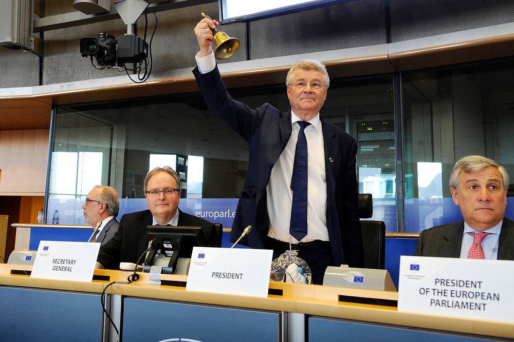 11 May 2017, 123rd Plenary Session of the European Committee of the Regions <br /> Belgium - Brussels - May 2017 <br /> EP President Tajani and CoR President Markkula <br /> © European Union / Fred Guerdin